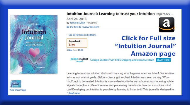Intuition Journal button