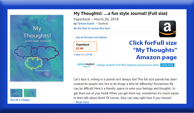 My Thoughts Full size childrens book page button