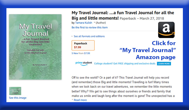 My Travel Journal childrens book page button