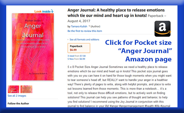 Anger Journal Pocket size page button