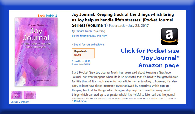 Joy Journal Pocket size book page button