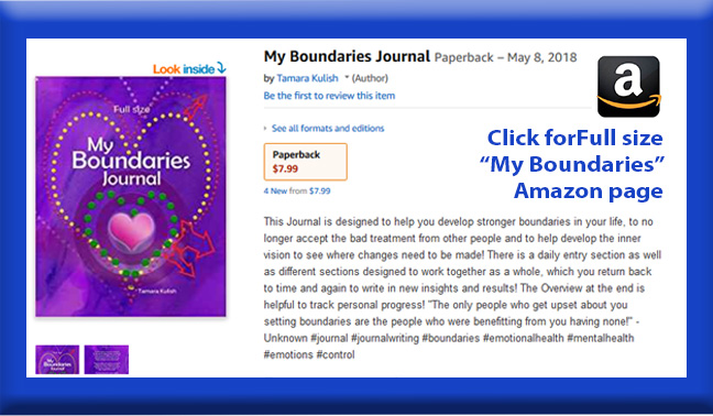 My Boundaries Full size book page button