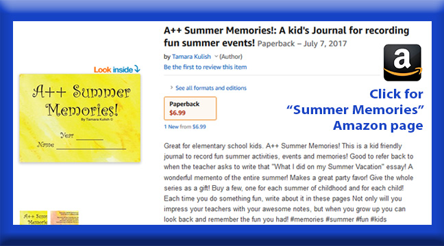 Summer Memories childrens book page button